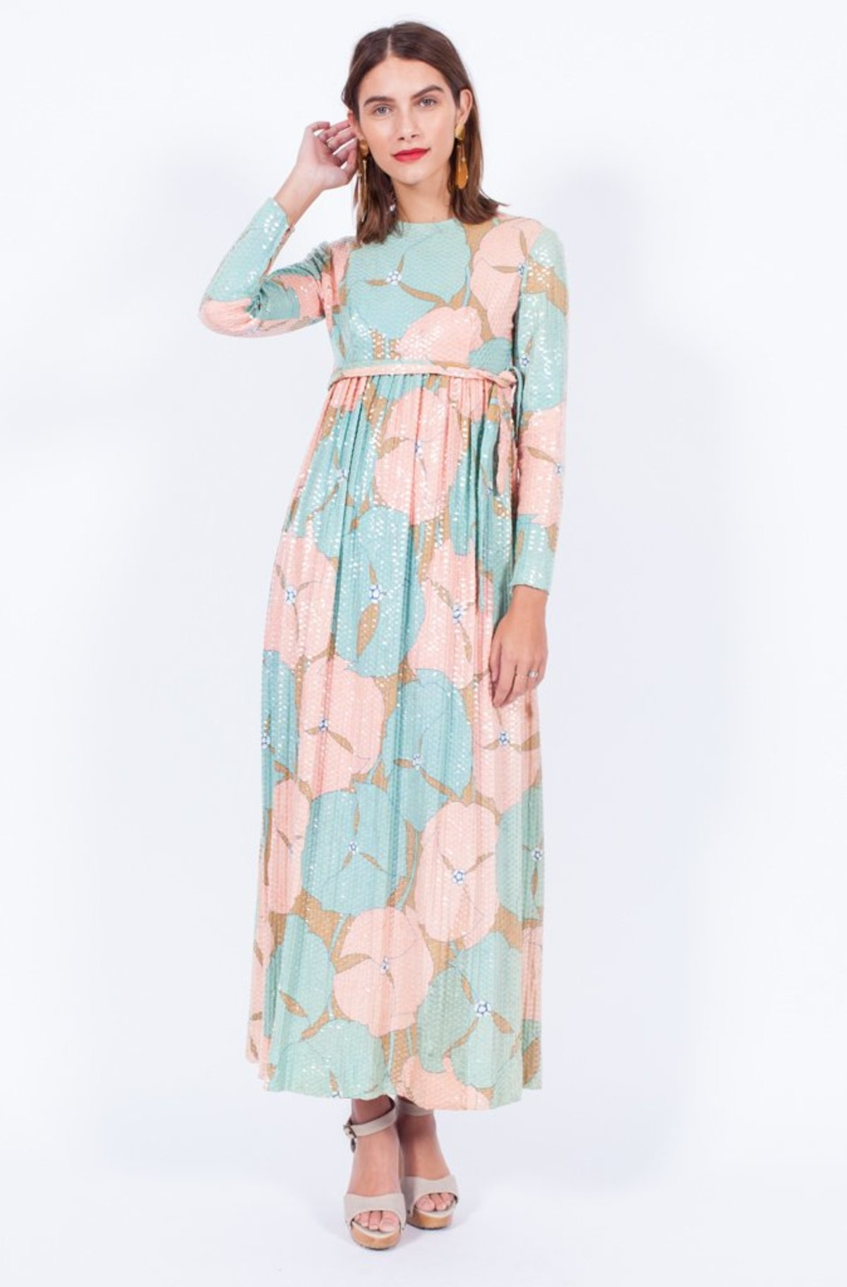 b23423b365 Yo Vintage! 1970s Pastel Sequin Dress - Small