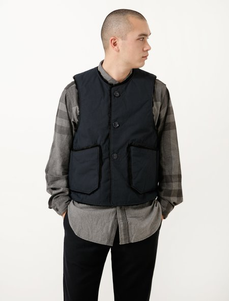 Engineered Garments Over Vest - Navy Nyco Ripstop