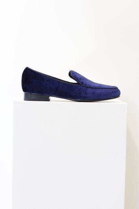 Sol Sana Quince Navy Velvet Loafer