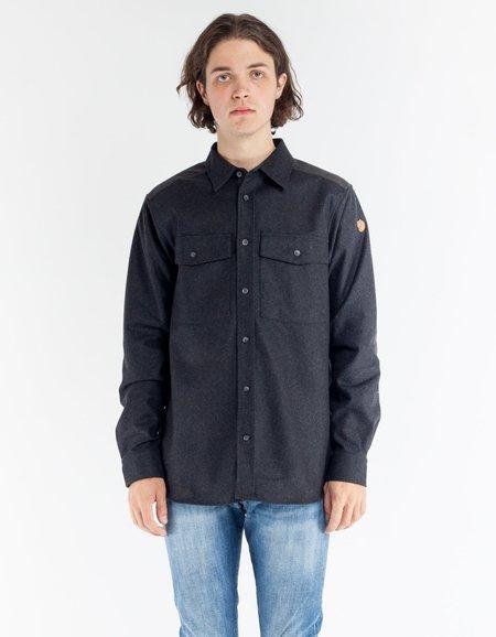 Fjallraven Ovik Re Wool Shirt LS Dark Grey