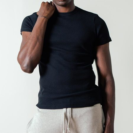 The White Briefs Curacao Short Sleeved Tee in Black