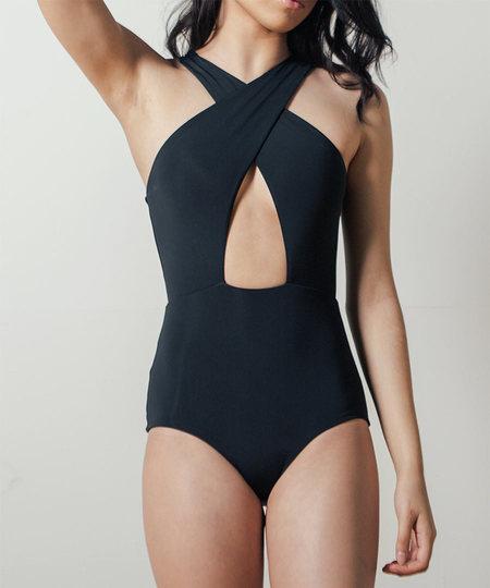 Shaina Mote Sassen Maillot Swimsuit in Black
