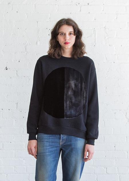 Correll Correll Duo Velvet Circle Sweatshirt - Old Black