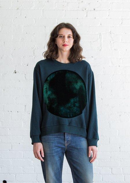 Correll Correll Velvet Circle Sweatshirt - Teal