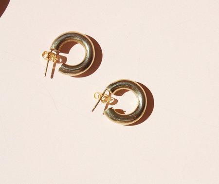 Laura Lombardi Mini Hoop in Gold