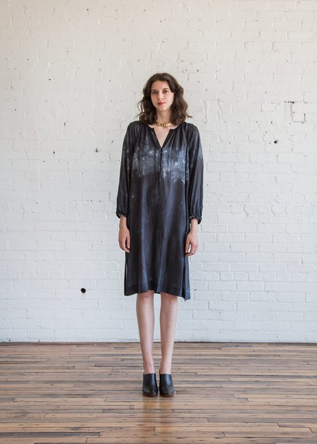 Raquel Allegra Windsor Blouse Dress in Black