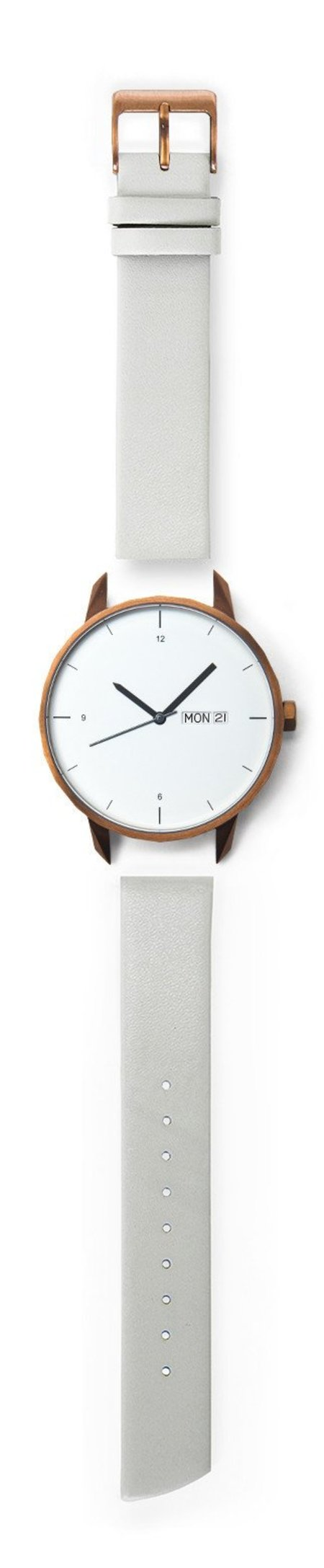 Tinker Watches 42mm Copper Watch Grey Strap