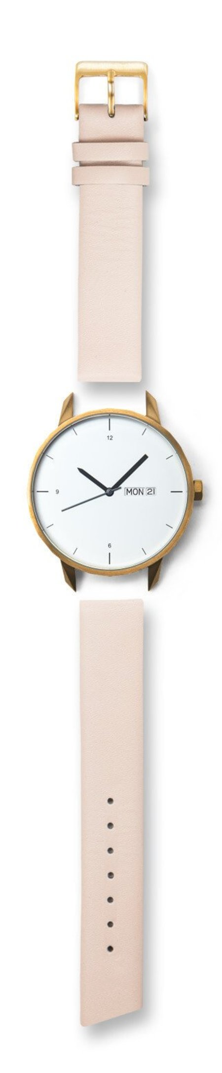 Unisex Tinker Watches 42mm Gold Watch Nude Strap