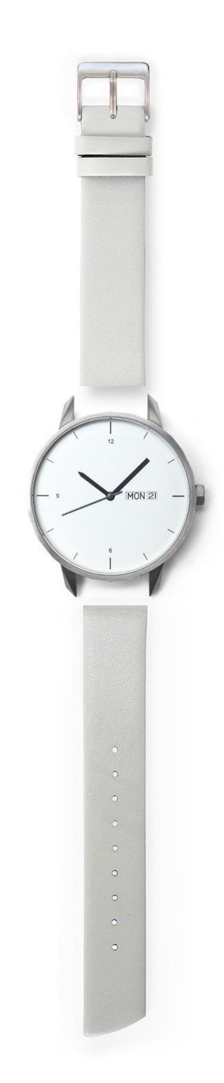 Unisex Tinker Watches 42mm Silver Watch Grey Strap