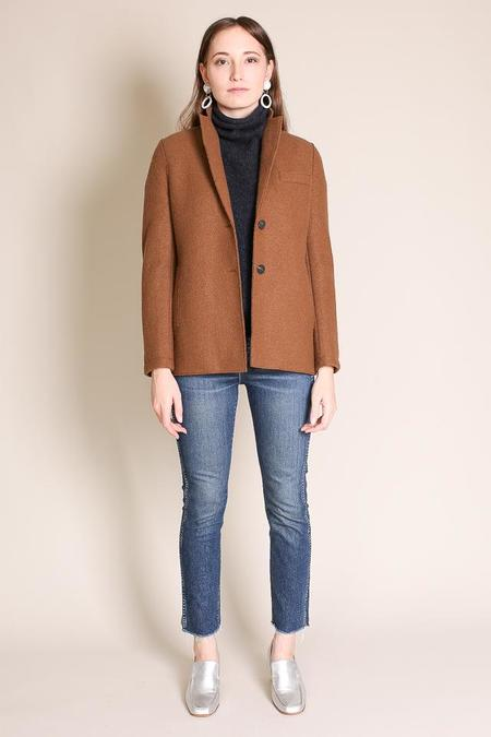 Harris Wharf London Boxy Jacket in Biscuit