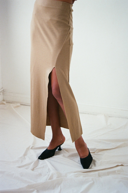 Vincetta Gallerie Skirt in Camel