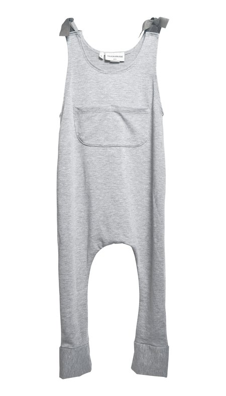 Kids Telegraph Ave Knit Overalls - Gray