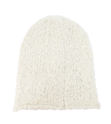 Textured Wool Hat Cream