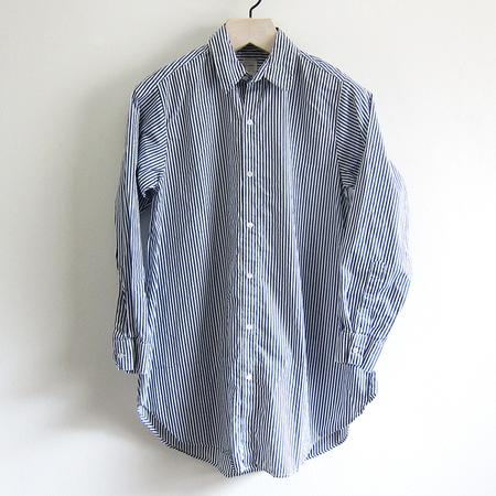 P.S. Shirt 9-Button Shirt - Navy Stripe
