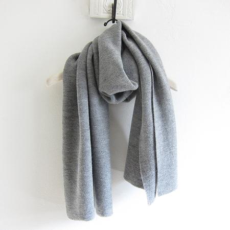 Aymara Alpaca Scarf - Grey