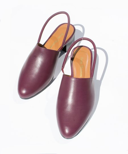 Anne Thomas Burgundy Williamsburg Mule