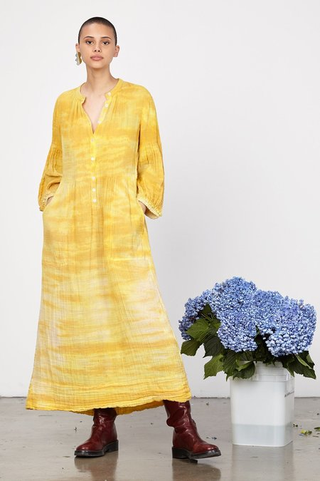 Raquel Allegra DANDELION GAUZE PEASANT DRESS