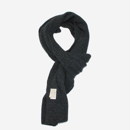 Country of Origin Honeycomb Wool Scarf - Charcoal