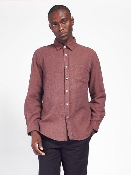 Portuguese Flannel Teca Shirt - Brick