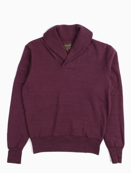National Athletic Goods Shawl Pullover 11oz Fleece - Wine