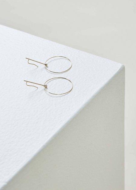 White Space Sezio Earrings - gold/diamond