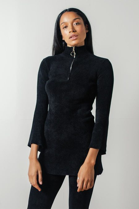Pari Desai Ramona Sweater Tunic in Black