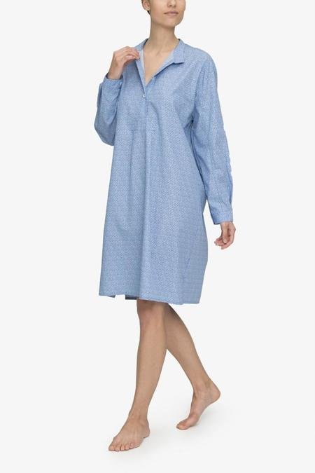 The Sleep Shirt Long Sleep Shirt - Tiny Blue Floral