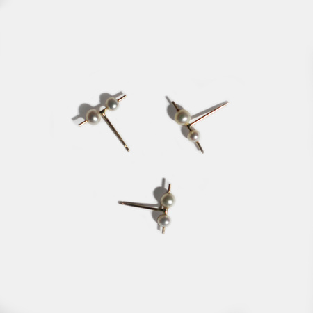 Mau Orion Pearl Double Stud Earring