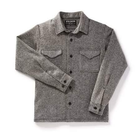 Filson Wool Twill Jac Shirt - Grey