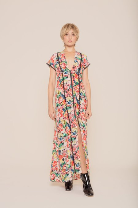 Ganni Maple Silk Maxi Dress