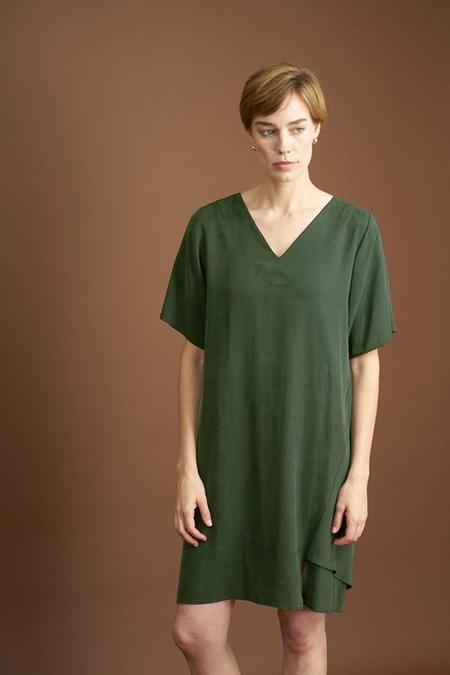 Elise Ballegeer Beate Dress -  Moss