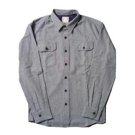 Product of Bob Scales Cotton Flannel Work Shirt - grey/black