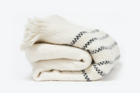 Morrow Soft Goods Parker Alpaca Throw - Soft White/Black