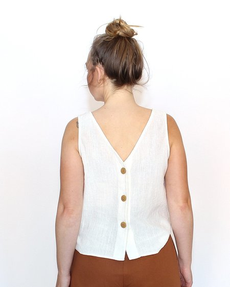 Esby Apparel Lola Tank in White