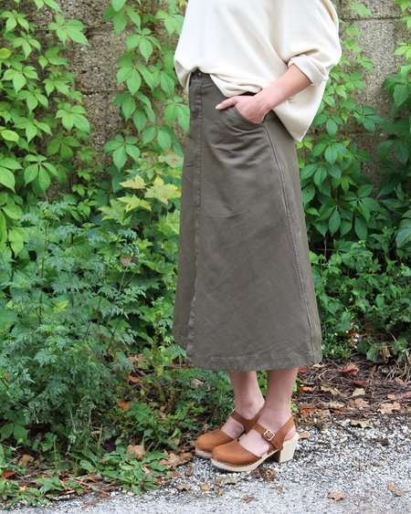 Esby Apparel Loretta Military Skirt in Olive
