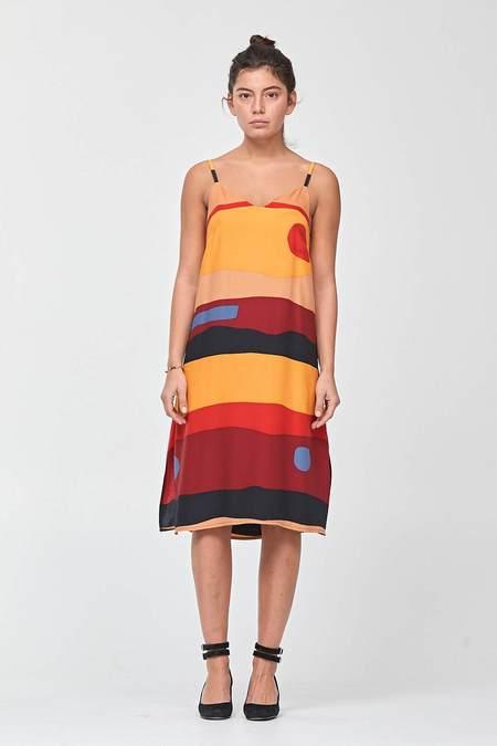 Dusen Dusen Spaghetti Dress - Desert