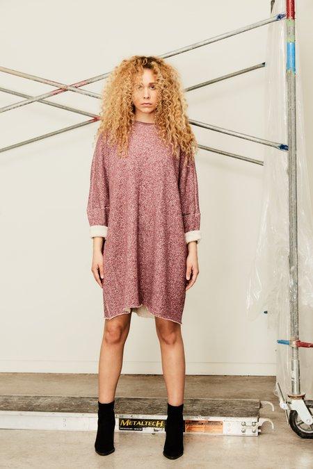 Devlyn Van Loon Curve Sweaterdress - Heather Wine