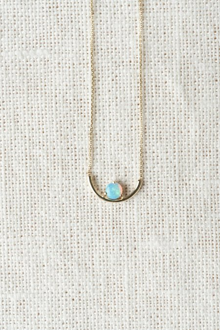 WWAKE Opal Arc Necklace