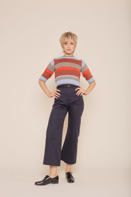 Kordal Short Sleeve Stripe Sweater