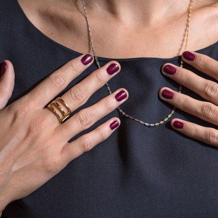 Alynne Lavigne 'Tri-Line Ring' 22k gold plated
