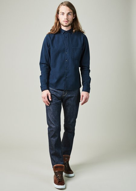 YMC Dean Chambray Shirt - Navy