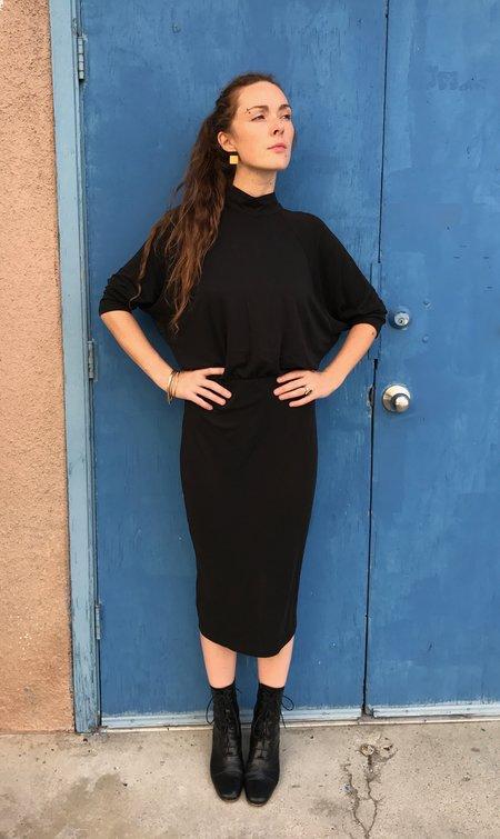 Eve Gravel Les Mouches Dress in Ebony