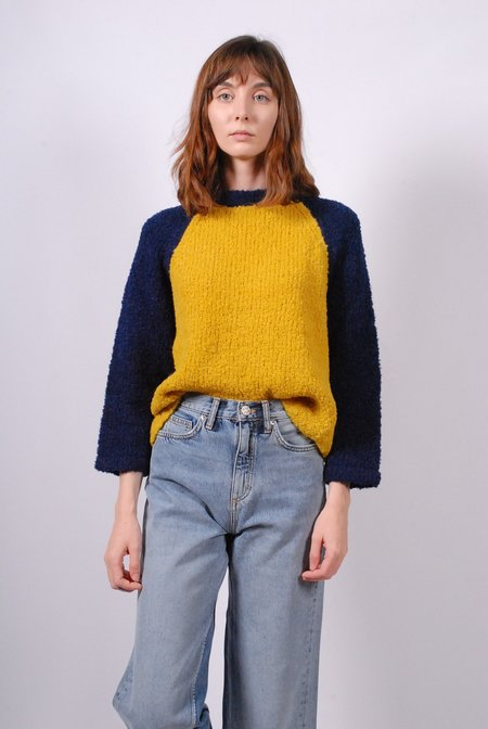Smythe Handknit Baseball Sweater