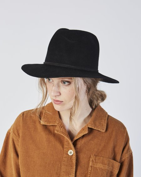 cd781d74dfb Clyde Pinch Hat in Black Angora Clyde Pinch Hat in Black Angora