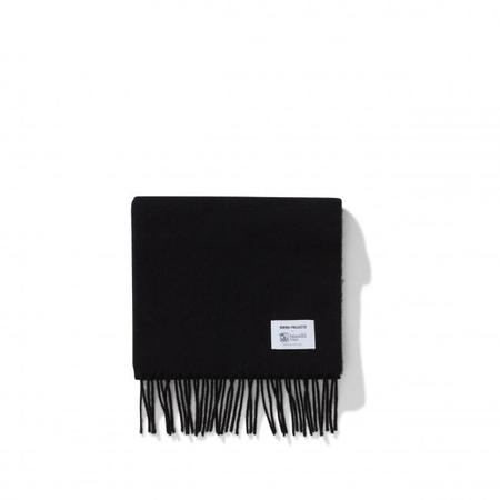 Norse Projects x Johnstons Check Scarf - Black