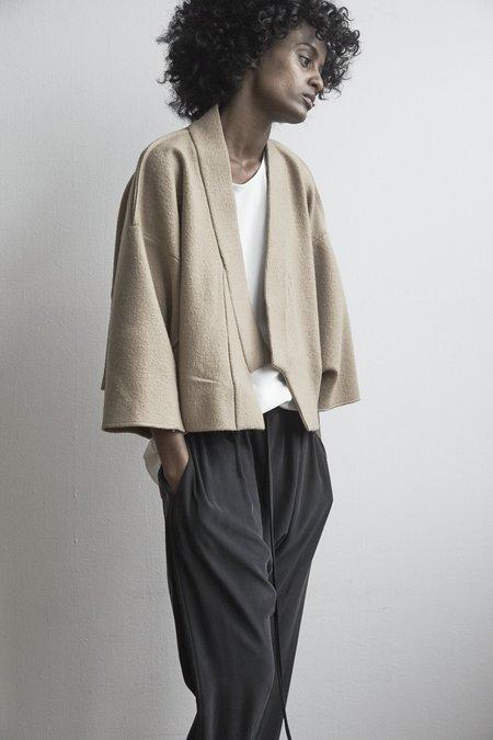 KES Cropped Kimono Coat