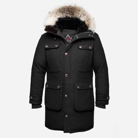 Arctic Bay Antarctica Wool Parka - Black