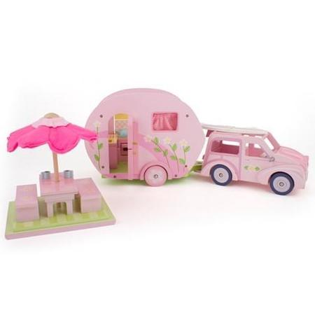 Kids Le Toy Van Roselea's Car and Caravan