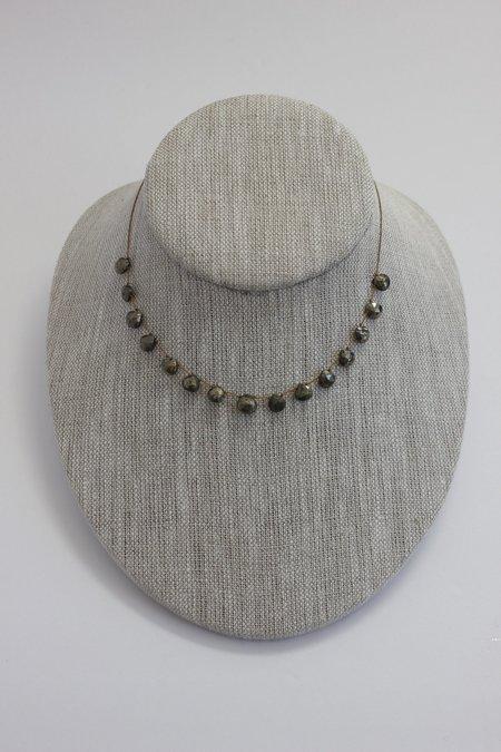 Lena Skadegard Small Gemstone Floating Necklace