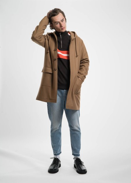Harmony Camel Mathieu Hooded Wool Coat